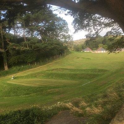 The course climbing through Haulfre gardens woods
