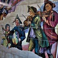 Détail des fresques