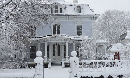Front of house after a snow storm.
