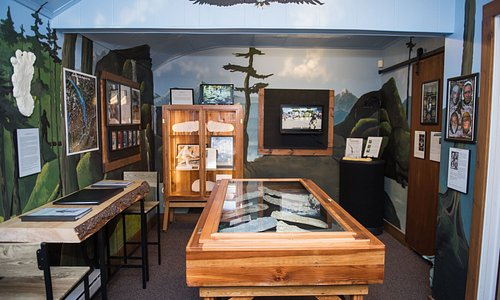 Inside of the Sasquatch Museum