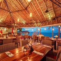 Our romantic beach Restaurant overlooking the Gulf of Thailand