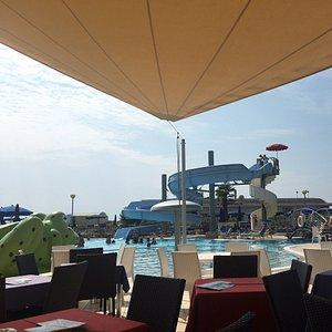 Lo scivolo della piscina hotel Lido hotel Cesare Augusto