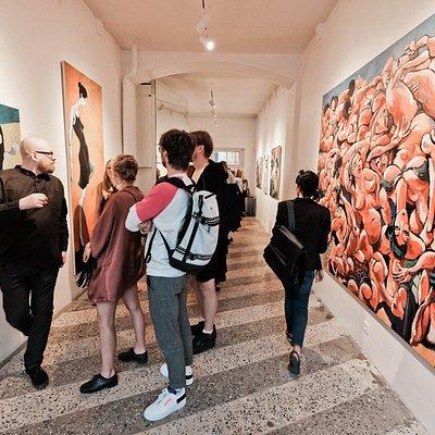 Opening of Otto Zitmanis exhibition.