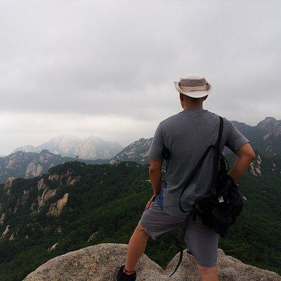 Watching Bukhansan Peak on a Bibong