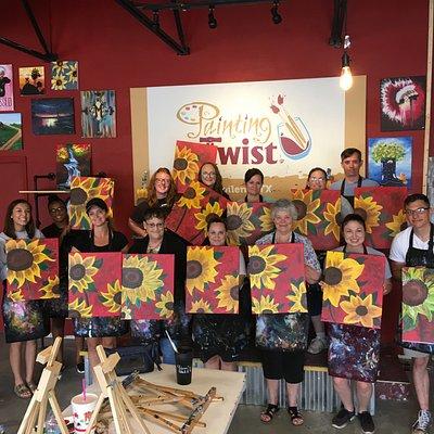 We love painting Sunflowers!