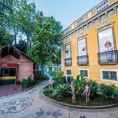 O casarão que abriga o Museu do Índio foi construído em 1880. O Museu, criado em 1953, foi transferido para Botafogo em 1978 e reinaugurado em 1979, onde está sediado até hoje. Atualmente o Museu conta com duas casas Guarani em seu terreno.