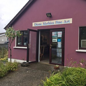 There is so much to see here at the studio/gallery of Diane Mathias and a very warm welcome.