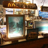 Angry Fish Gallery / Bay Ave Point Pleasant Beach - actually stays open late on Fri+Sat nights!