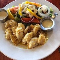 Our calamari dish and portion was a good size.