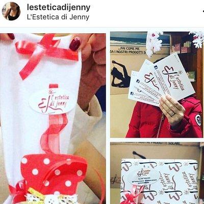 Qualsiasi regalo tu voglia fare , l'estetica di Jenny c'è 😍  _ buono relax  - prodotti viso ,corpo , o solari vagheggi  -calzetta per la befana con dentro i nostri prodotti