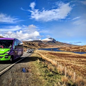 The WOW Scotland mini bus on Skye