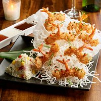 Coconut Crunchy Shrimp Stack