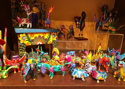 Wide variety of folk art items for sale in Museum Gift Store.