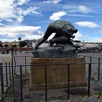 Ercole che lotta con il leone