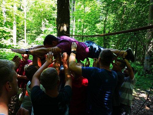 Teamaktion im Kletterwald Einsiedel