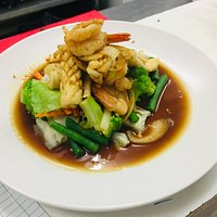Stir-fried with oyster sauce
