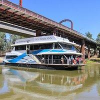 MV Mary Ann on the Murray River Echuca.