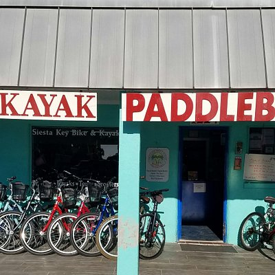 siesta key bike and kayak 1224 old Stickney pt rd. Bikes, kayaks,paddleboards, scooter and beach rentals