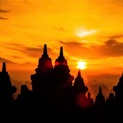 One of the best moment of Borobudur sunrise