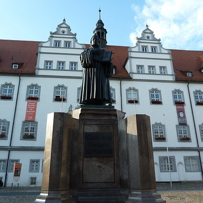Lutherdenkmal i Lutherstadt Wittenberg
