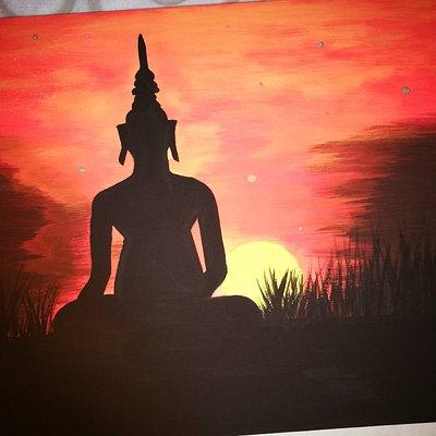 Világító Buddha festés