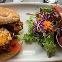 The Library Pub, Wolfville:  The herb-crusted chicken burger