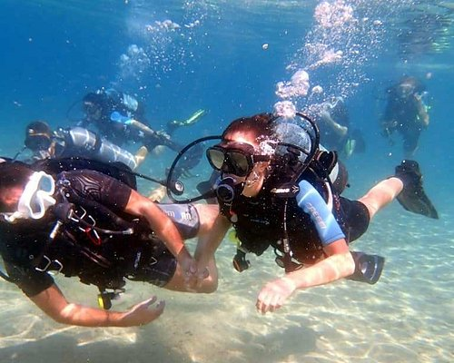 recreational scuba diving at lagomandra beach...
