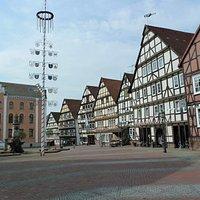 Rathaus på Marktplatz i Hofgeismer