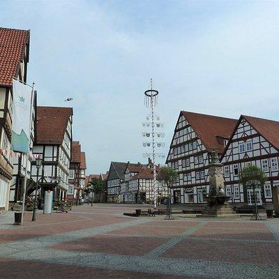 Marktplatz med Brunnen i Hofgeismar