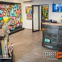 Espace de ventes des oeuvres de Street Art