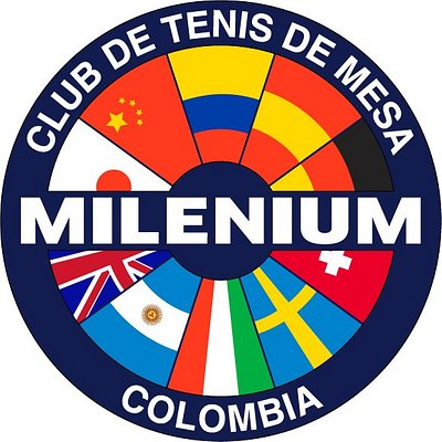 Este es el logo del club de tenis de mesa Milenium, simboliza gran parte de los países que tienen fuerte presencia en el tenis de mesa a lo largo de la historia del deporte
