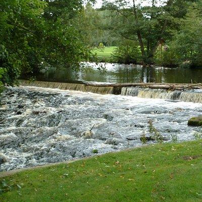 Vattenfall i Kurparken i Bad Fallingbostel