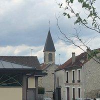 Clocher de l'Église Saint-Jean-Baptiste à Pierrelaye