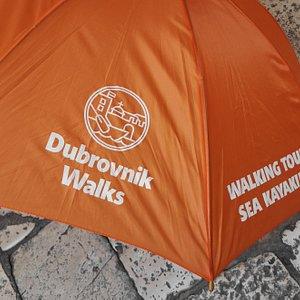 Dubrovnik Walks - meeting point Brsalje 8, orange umbrella