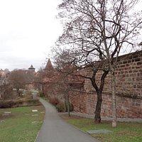 城壁のそばにある、薬草園です