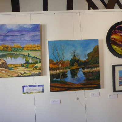 Some of the paintings in the Gallery
