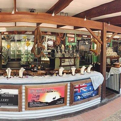 Emu Ridge Gallery is located on Therwine Street Kuranda.