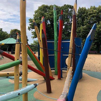 Ansicht vom Spielplatz