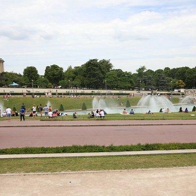 Les fontaines du trocadéro, un moment inoubliable, c'est superbe