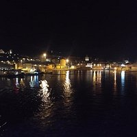 View From Ship At Night Leaving Ancona