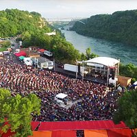 Artpark Amphitheater on the scenic Niagara River Gorge aerial view Photo by Jordan Oscar