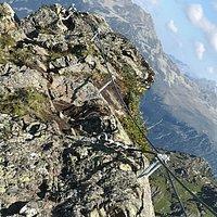 Geschafft, der Ausstieg aus dem Klettersteig