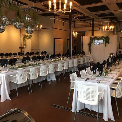 Gallery set up for a wedding reception