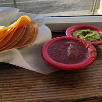 Homemade Chips/Salsa/Guac - doesn't get any better than this!