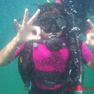 Enjoying underwater at south Goa