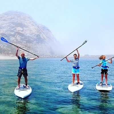 Stand up paddling in the protected harbor is fun for all ages!