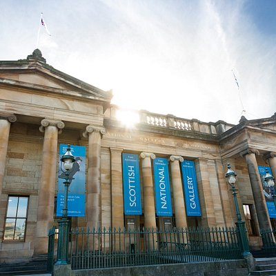 Scottish National Gallery - this entrance sits behind the Royal Scottish Academy building and is your gateway to the free-to-visit permanent collection.  Photography by Eoin Carey.