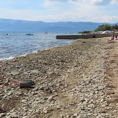 Makedonien: Pretor-Strand am Prespa-See