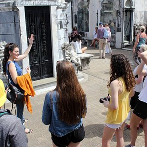 At the Recoleta Cemetery, touring around with my school group from USA.