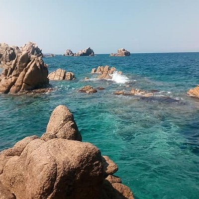 sea view of the rocks